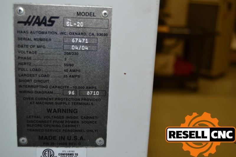 Item 8 Haas Sl Wiring Diagram on